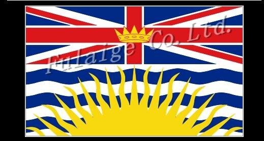 Colombie britannique drapeau d\'état New 3x5ft Canada State drapeau ...