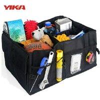 Auto Supplies Car Back Folding Storage Box Multi Use Tools Organizer Car Portable Storage Bags Black
