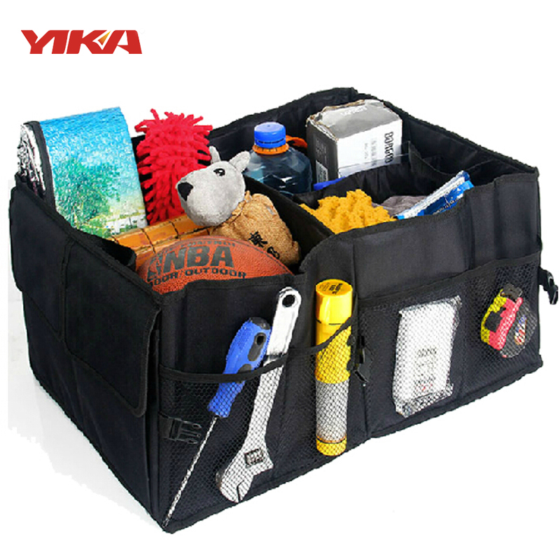Auto Supplies Car Back Folding Storage Box Multi-Use Tools Organizer Car Portable Storage Bags Black