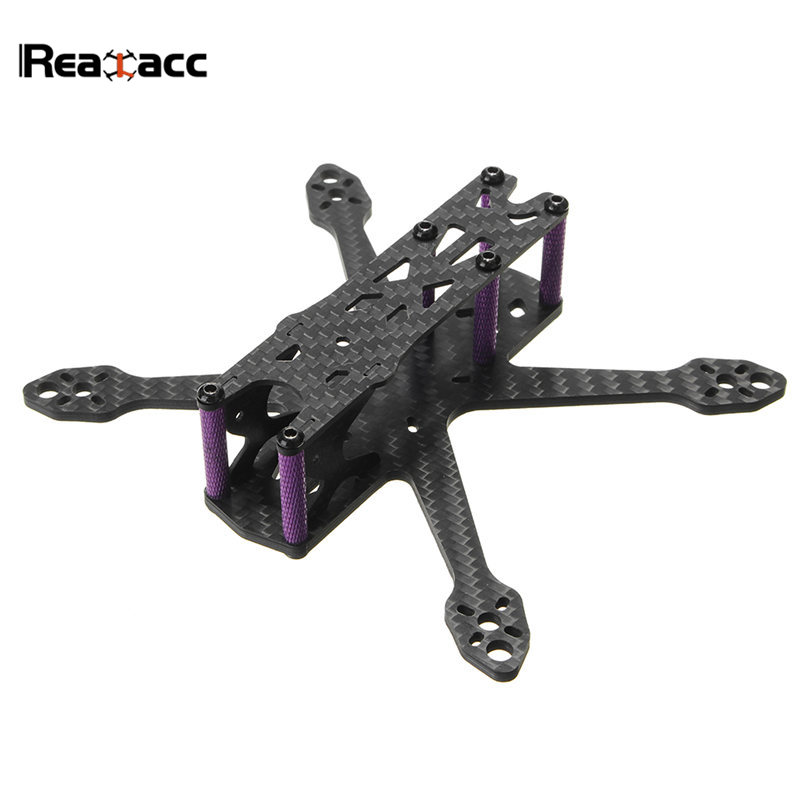 Realacc Martian IV 140mm Wheelbase 3mm Arm Carbon Fiber Frame Kit For RC Models Multicopter Drone Motor ESC DIY Spare Part Accs iflight tau h7 273mm wheelbase 7 inch 5mm arm 3k carbon fiber frame kit for rc models multicopter motor esc diy part accs