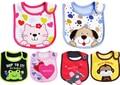 5pcs/lot New Cotton Baby Bib Infant Saliva Towels Baby Waterproof Bibs Newborn Wear Cartoon Accessories 3 layers Free Shipping
