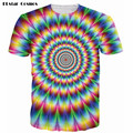 PLstar Cosmos Unique Mens Casual Colorful Galaxy Space Psychedelic 3D Printed T Shirt Men Fashion Tops Kaleidoscope Tee Shirts