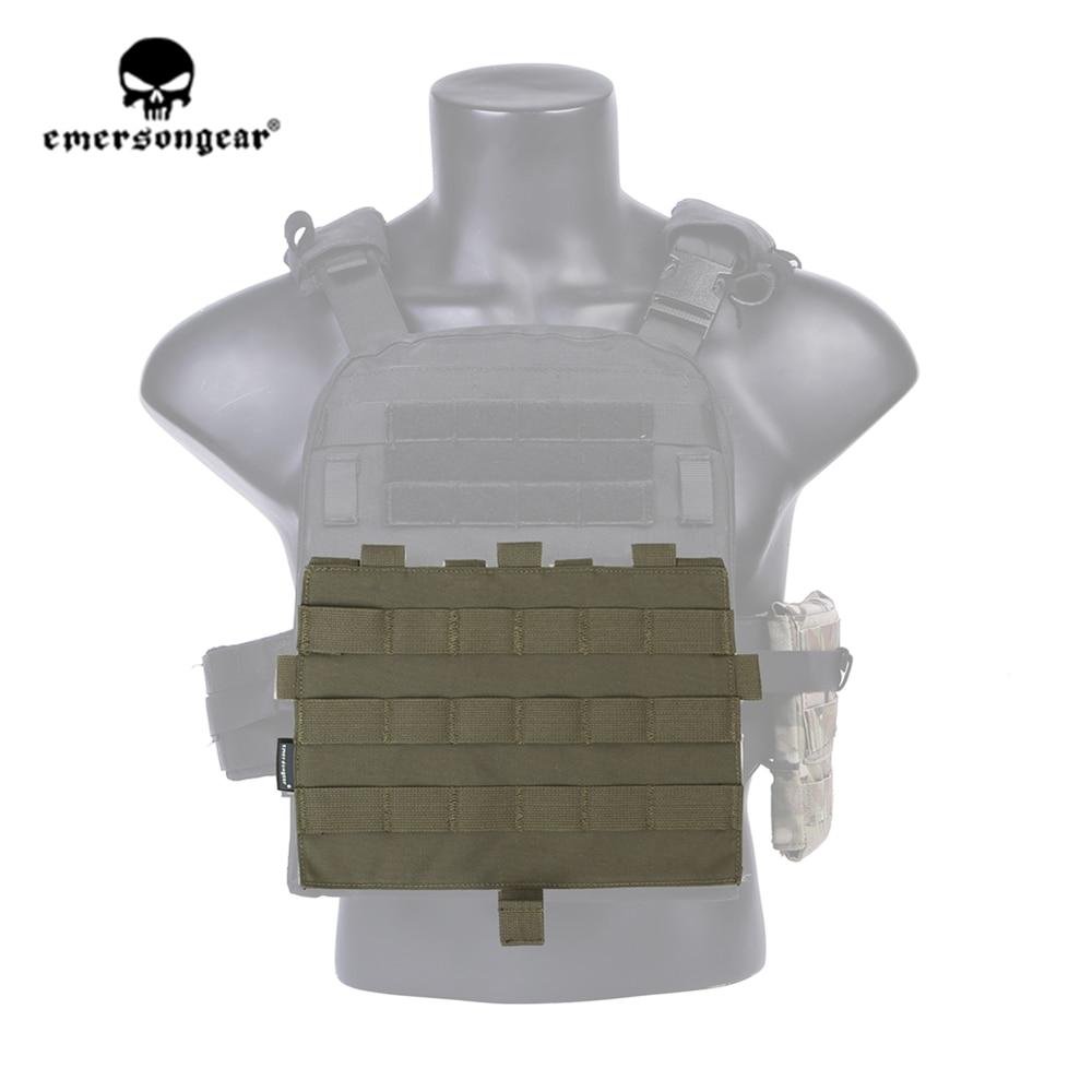 emersongear Emerson CP Style Detachable Front MOLLE Panel Tactical MOLLE Modular Platebag for AVS & JPC2.0 Vest Ranger Green RG