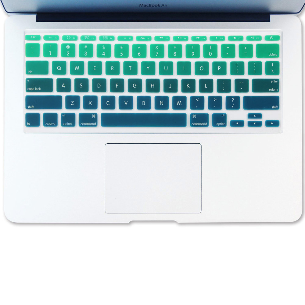sports shoes a061e 87fb6 US $4.99 |Batianda Air 11 inch US Enter Rainbow Color Silicone Keyboard  Cover Stickers Fit For Apple Macbook Air 11 11.6