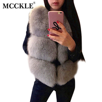 Women S Faux Silver Fox Fur Short Vests 2016 Winter Fashion Thick Imitate Fur Sleeveless Vest