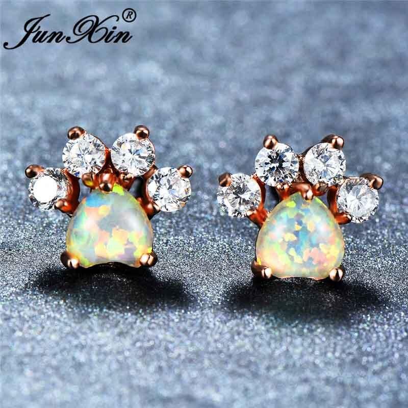 White Opal Earrings