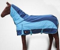 Скачки ткань Осень водонепроницаемые теплые лошадь ковры синий Съемная КОНСКОЙ СБРУИ