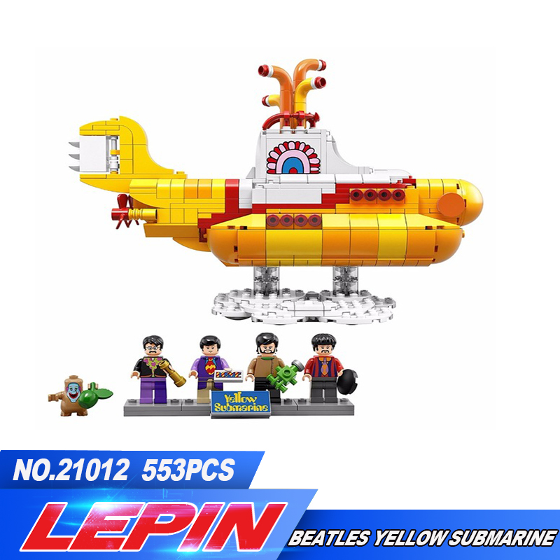 2017 Lepin 21012 New 553Pcs The beatles yellow submarine Building Blcoks Bricks Toys 21306 lepin 21012 builder the beatles yellow submarine with 21306 building blocks bricks policeman toys children educational gift toys