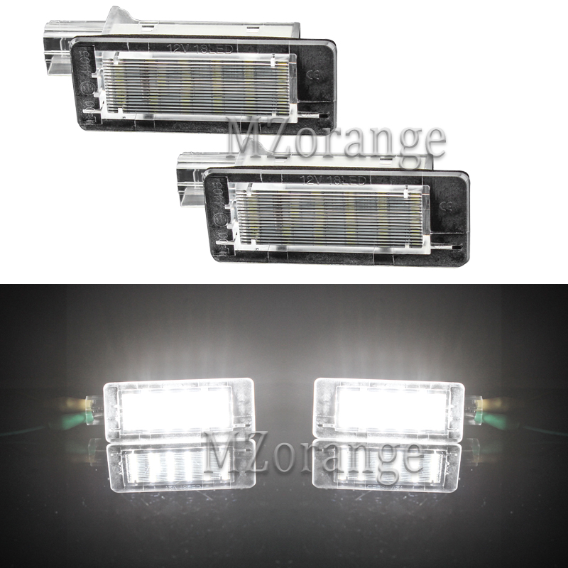 Mzorange Car <font><b>LED</b></font> License Plate Lights Lamp for <font><b>Renault</b></font> Espace MK4 <font><b>Scenic</b></font> MK2 Laguna <font><b>2</b></font> Dacia Duster Lodgy Logan MCV III 2003-2010 image
