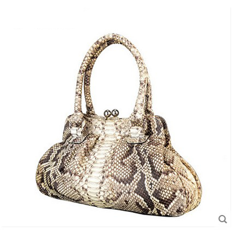 jialante Female snake skin women handbag lady bag, single shoulder women bag Python skin beijue boa leather single shoulder women handbag chain bag single shoulder bag black python skin