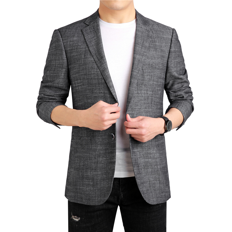 MarKyi 2019 new line mens suit jacket blazer fashion designer men cotton plus size 4xl
