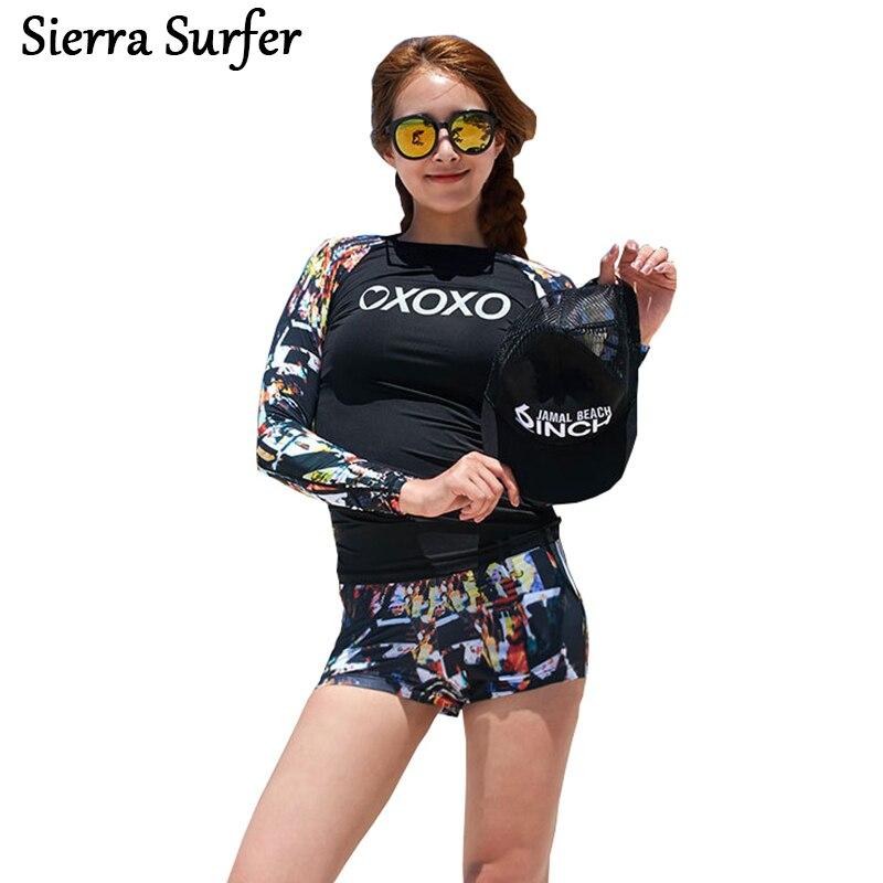 7550e93528 Rash Guard Women Rashguard Female Windsurf Wind Surf Bathing Suits Swim  Beach Wear 2018 Suit Lycra