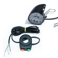 Sports Headlight Attachment Scooter Lamp Electric Bicycle 4 LED Front Horn Plastic Support Wire E Bike|Electric Bicycle Accessories|   -