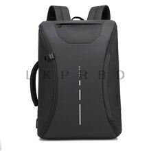 2018 BAIBU Men Black  inch Laptop Business Backpack Multifunction USB Charging Travel Bag Unisex Fashion Casual Backpacks недорого