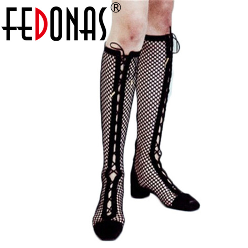 FEDONAS Fashion Sexy Summer Cut-outs Knee High Boots High Heels Spring Summer Party Club Shoes Woman Ladies Long Summer Boots FEDONAS Fashion Sexy Summer Cut-outs Knee High Boots High Heels Spring Summer Party Club Shoes Woman Ladies Long Summer Boots