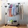 2018 Garment rack edelstahl trocknen racks balkon einstellbare doppel pole boden trocknung home wohnzimmer schlafzimmer kleiderbügel