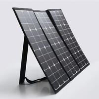 100 W Semi Flexível Painel Solar Dobrável Carregador Kit Mala com 10A Controlador de Carga Do Painel Solar Ao Ar Livre para Camping, tênis para caminhada