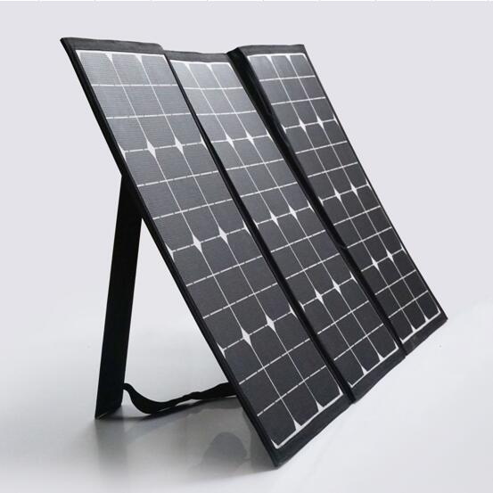 100W Semi Flexible Foldable Solar Panel Kit Charger Outdoor Solar Panel Suitcase with 10A Charge Controller