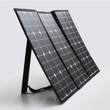 100 W Semi-Flexible Pliable Panneau Solaire Kit Chargeur Solaire Extérieure Panneau Valise avec 10A Contrôleur de Charge pour le Camping, randonnée