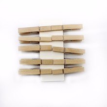 10 pcs mini Vintage DIY wooden creative decorative combination wall postcard photo album school wood supplies