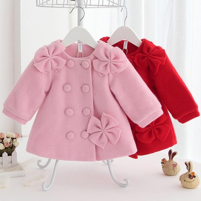 2f602b0bd3e6 DZIECKO Kids Woolen Coats For Girls Fall Winter Princess Girl ...