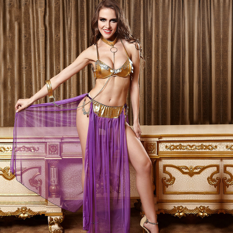Europe American Women Game Role-playing Uniforms Fashion Sexy Costumes Halloween Cleopatra Cosplay Performance Clothing