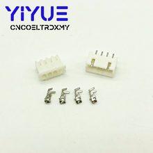 500セットjst XH2.54 4と6Pin電線コネクタxh 2.54ミリメートル180アングルストレートピンヘッダ + ハウジング + 端子pcb車
