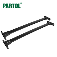 Partol 2Pcs Set Aluminum Car Roof Racks Cross Bars Crossbars Kit 68kg Bike Luggage Carrier Top
