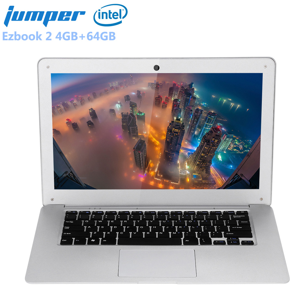 Jumper Ezbook 2 14.0 ''LED FHD 10000 mah Ultrabook Portable Windows 10 Intel Cerise Sentier X5 Z8350 Quad Core 4 gb + 64 gb Ordinateur Portable HDMI