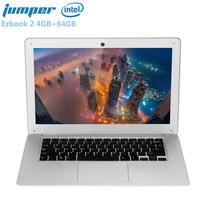 Jumper Ezbook 2 14.0'' LED FHD 10000mAh Ultrabook Notebook Windows 10 Intel Cherry Trail X5 Z8350 Quad Core 4GB+64GB Laptop HDMI