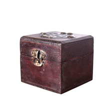1pc 7*7*6.5cm Chinese new vintage wooden box ring box storage for jewelry, necklace case jewelry box