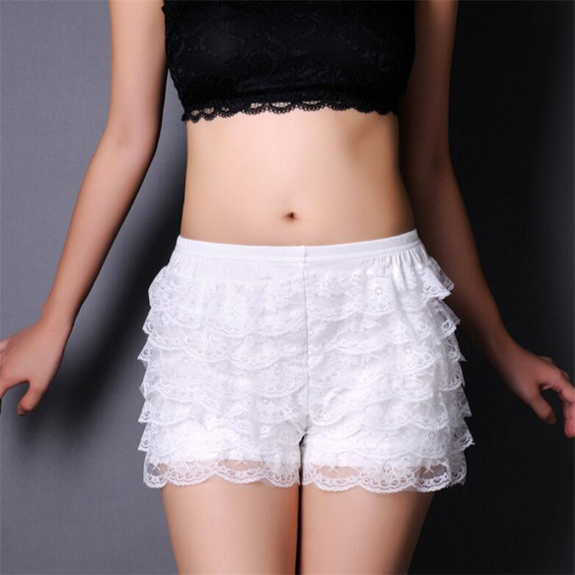 YRRETY Comfortable Short Pants New Summer 8 Floors Lace Shorts Under Skirt Lace Underwears Boxers 1 Pc Shorts 7 Colors Solid