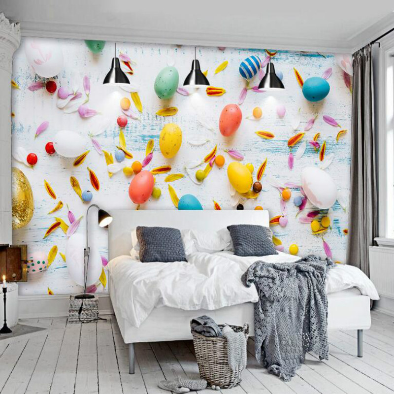 Modern multicolored balloons Wallpaper for Walls 3d Wall Paper Background Painting Mural Wallpapers Home Improvement Decorate 3d wall paper rolls wallpaper for walls 3d murals hd black and white tree simple 3d tv background wallpapers home improvement