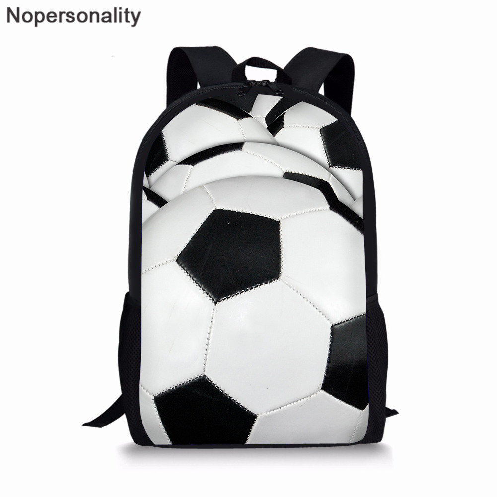 Nopersonality School Bag Set Soccer/Football/Basketball/Rugby/Volleyball Prints Schoobag For Boys Junior Student Bookbags
