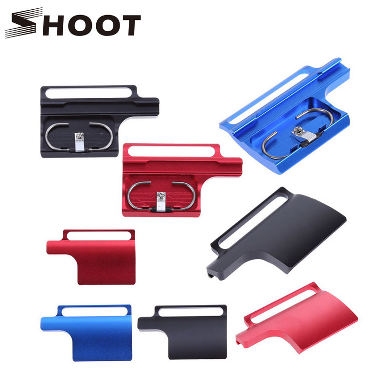 product SHOOT CNC Aluminum Alloy Back Door Clip for GoPro Hero 3+ 4 Waterproof and Protective Housing Case Buckle Go pro 4 Accessories