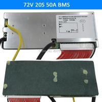 3.6V/3.7V cellulare 20S 72V 50A BMS Utilizzato per 72v 30ah 35ah 40ah batteria 50A continuo trasporto libero