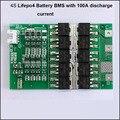 12.8 В или 14.4 В Lifepo4 батареи PCB с 100A ток разряда подходит для 4S 12 В Lifepo4 аккумулятор BMS