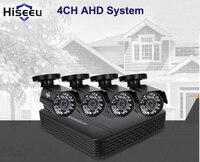 Hiseeu AHD 4 Channel Cctv System 4CH Mini DVR For CCTV Kit XMEYE 1200TVL 720P IR