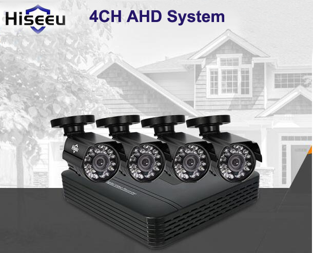 Hiseeu AHD 4 channel cctv system 4CH Mini DVR For CCTV Kit XMEYE 1200TVL 720P IR Bullet Outdoor AHD Camera Security System стоимость
