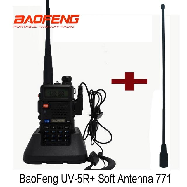 Portable Radio Baofeng UV-5R two way radio Walkie Talkie Dual band uv 5r with Dual Wide Band SMA-F Female Soft Antenna 771