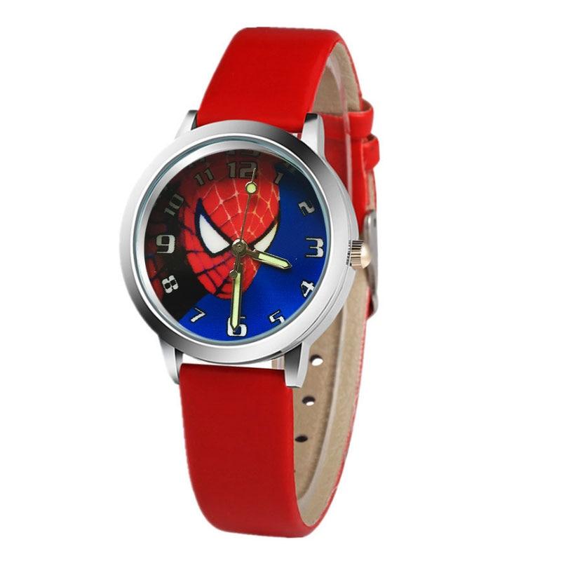 Brand Children's Watch Cartoon Spiderman Watches Fashion Children Boys Kids Students Sports School Clock Gift