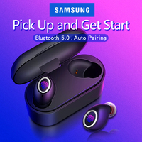 Fingerprint Touch Bluetooth Earphones 5.0 TWS for Samsung Galaxy S9 S10 S8 S7 S6 Edge Plus S10E Note Wireless Earbuds dual Mic