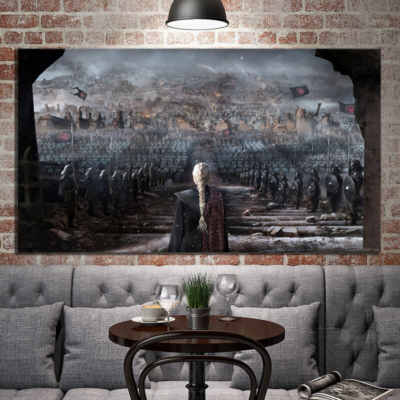 1 Piece Game Of Thrones Daenerys Targaryen Mother Of Dragons Poster Artwork Digital Art Canvas Paintings Wall Art Decor