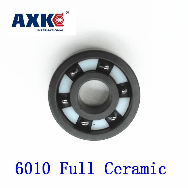 Axk 6010 Full Ceramic Bearing ( 1 Pc ) 50*80*16 Mm Si3n4 Material 6010ce All Silicon Nitride Ceramic Ball Bearings цена