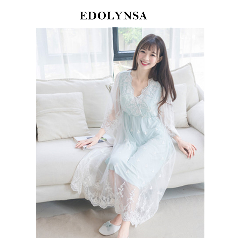 Nightgowns     Sleepshirts   2019 Sexy Home Dress Modal Nightwear   Nightgown   Sleep & Lounge Lace Nightdress Sleepwear Female #H413
