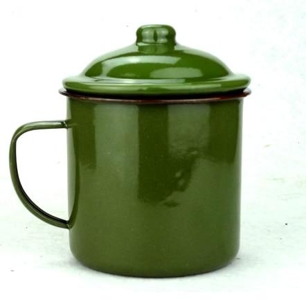 Free shipping old <font><b>China</b></font> Army Green vintage Enamel Mug Forces Military Coffee <font><b>Cup</b></font> Coffee Mug Tea <font><b>Cup</b></font> old Chinese Mug Office Mug