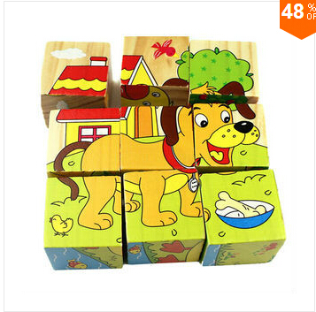 JOKEJOLLY Children Wooden Puzzle Early Education Toys Game