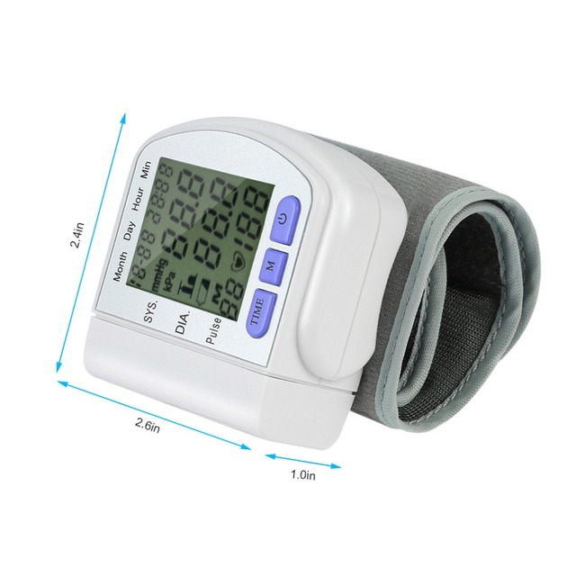 Automatic Digital Arm Blood Pressure Monitor Automatic Sphygmomanometer Gauge Meter Tonometer for Measuring Arterial Pressure 5
