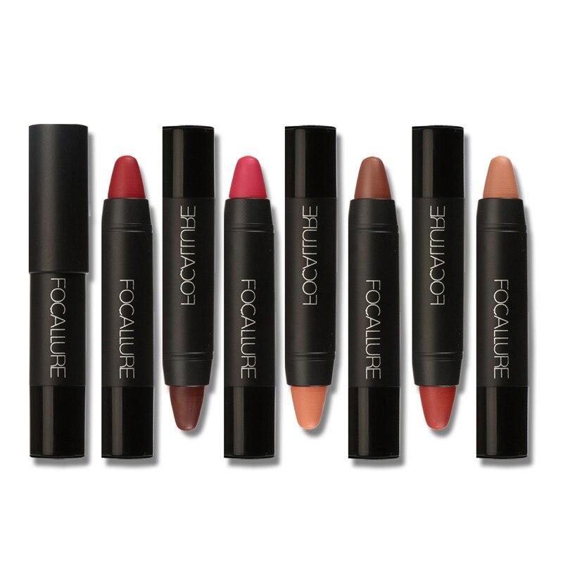 FOCALLURE Cosmetics Matte Lipstick High Gloss Lip Make Up Lips Crayons 24...