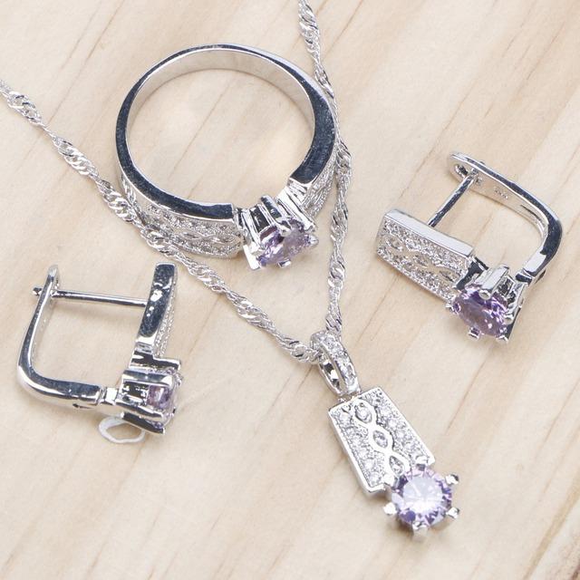 Zirconia Brude Kvinner Smykker Stiller Stone øredobber sterling sølv smykker